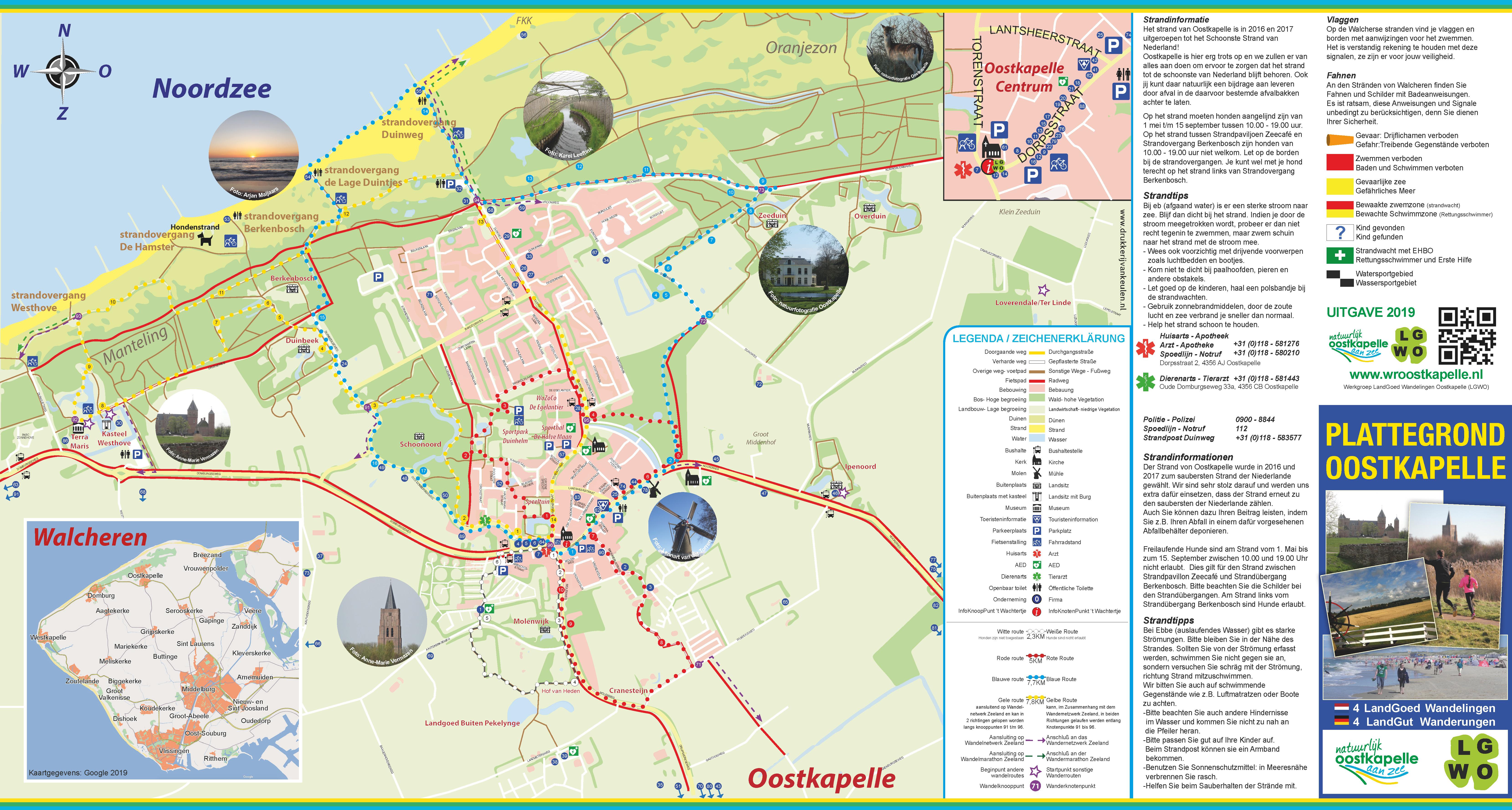 Wandel - en fietsroutes in Oostkapelle